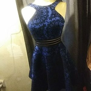 Blk/blu party dress